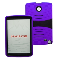 LG G Pad F 8.0 / G Pad II 8.0 Hybrid Rugged Case With Kickstand HYB08 Purple