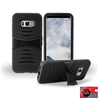 Samsung Galaxy S8 Plus / G955 HYBRID KICKSTAND COVER CASE HYB08 BLACK