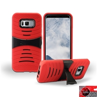 Samsung Galaxy S8 Plus / G955 HYBRID KICKSTAND COVER CASE HYB08 RED