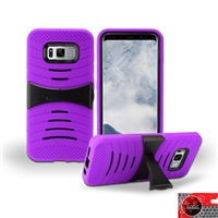 Samsung Galaxy S8 HYBRID KICKSTAND COVER CASE HYB08 PURPLE