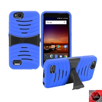 For ZTE Tempo X N9137/ AVID 4 /Fanfare 3 /Blade Vantage Hybrid Kickstand Cover Case HYB08 Blue
