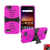 For ZTE Tempo X N9137/ AVID 4 /Fanfare 3/ Blade Vantage  Hybrid Kickstand Cover Case HYB08 Pink