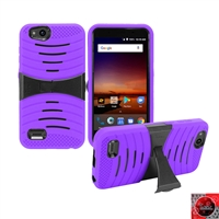 For ZTE Tempo X N9137/ AVID 4 /Fanfare 3/ Blade Vantage Hybrid Kickstand Cover Case HYB08 Purple