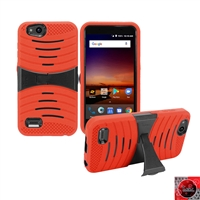 For ZTE Tempo X N9137/ AVID 4 /Fanfare 3/ Blade Vantage Hybrid Kickstand Cover Case HYB08 Red