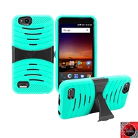 For ZTE Tempo X N9137/ AVID 4 /Fanfare 3/ Blade Vantage Hybrid Kickstand Cover Case HYB08 Teal