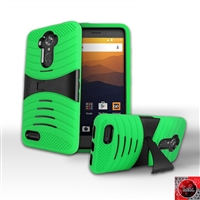 ZTE MAX XL /N9560 HYBRID CASE WITH KICKSTAND HYB08 Green