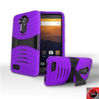 ZTE MAX XL /N9560 HYBRID CASE WITH KICKSTAND HYB08 Purple