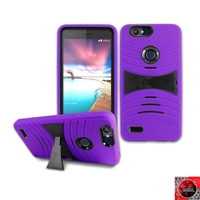 ZTE Sequoia / Blade Z Max / ZMax Pro 2/ Z982 HYBRID CASE WITH KICKSTAND HYB08 Purple