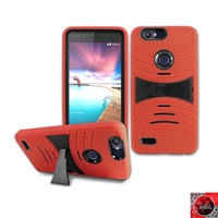ZTE Sequoia / Blade Z Max / ZMax Pro 2/ Z982 HYBRID CASE WITH KICKSTAND HYB08 Red