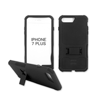 iPhone 7 Plus Rugged Armor Hybrid Kickstand Case Black