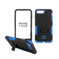 iPhone 7 Plus Rugged Armor Hybrid Kickstand Case Blue