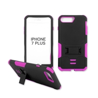 iPhone 7 Plus Rugged Armor Hybrid Kickstand Case Pink
