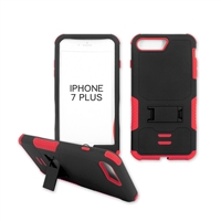 iPhone 7 Plus Rugged Armor Hybrid Kickstand Case Red