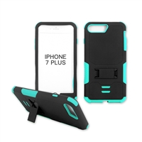 iPhone 7 Plus Rugged Armor Hybrid Kickstand Case Teal
