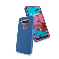 LG K51 Slim Defender Cover Case HYB12 Teal/Pink
