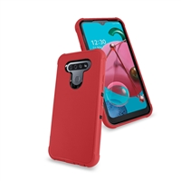 LG K51 Slim Defender Cover Case HYB12 Red/Black