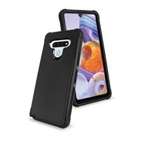 LG Stylo 6 Slim Defender Cover Case HYB12 Black/Black