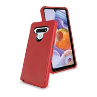 LG Stylo 6 Slim Defender Cover Case HYB12 Red/Black
