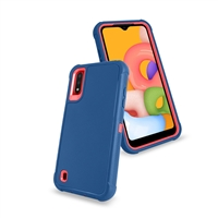 Samsung Galaxy A01 (A015) Slim Defender Cover Case HYB12 Teal/Pink