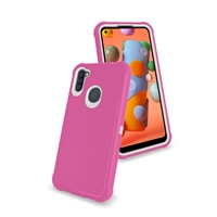 Samsung Galaxy A11 (A115) Slim Defender Cover Case HYB12 Pink/White