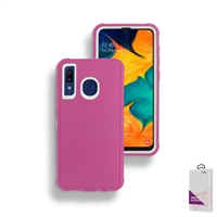 Samsung Galaxy A20/A30/A50 Slim Defender Cover Case HYB12 Pink/White