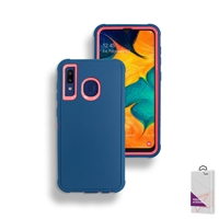 Samsung Galaxy A20/A30/A50 Slim Defender Cover Case HYB12 Teal/Pink