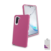 Samsung Galaxy Note 10 Plus Slim Defender Cover Case HYB12 Pink/White