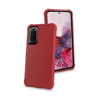 "Samsung Galaxy S20 Plus 6.7"" /G985 Slim Defender Cover Case HYB12 Red/Black"