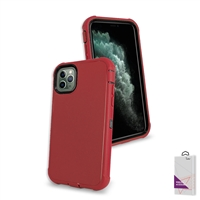"Apple iPhone 11 Pro (5.8"") Slim Defender Cover Case HYB12 Red/Black"