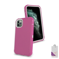 "Apple iPhone 11 Pro Max (6.5"") Slim Defender Cover Case HYB12 Pink/White"