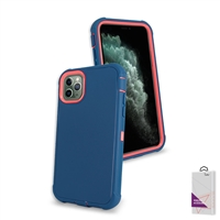 "Apple iPhone 11 Pro Max (6.5"") Slim Defender Cover Case HYB12 Blue/Pink"