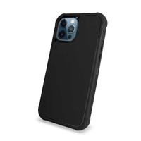 "Apple iPhone 12 (5.4"") Slim Armor Rugged Defender Hybrid Cover Case HYB12 Black/Black"