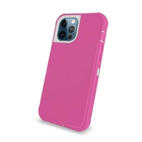 "Apple iPhone 12 Pro Max (6.7"") Slim Armor Rugged Defender Hybrid Cover Case HYB12 Pink/White"