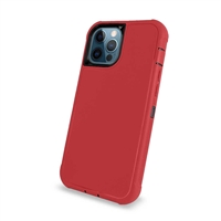 "Apple iPhone 12 Pro Max (6.7"") Slim Armor Rugged Defender Hybrid Cover Case HYB12 Red/Black"