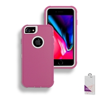 Apple iPhone 6/7/8 Slim Defender Cover Case HYB12 Pink/White