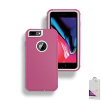 Apple iPhone 6/7/8 Plus Slim Defender Cover Case HYB12 Pink/White