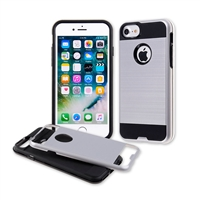 IPHONE 6 METAL BRUSH CASE SILVER HYB22-IPH6SLBK