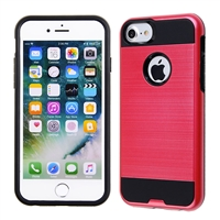 IPHONE 7/ IPHONE 8 METAL BRUSH CASE HYB22 Red