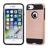 IPHONE 7/ IPHONE 8 METAL BRUSH CASE SILVER HYB22 ROSE GOLD