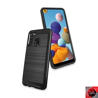 Samsung Galaxy A21 Slim Armor Metal Brush Case for Wholesale