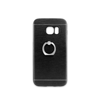 Samsung Galaxy S7 Aluminum Ring Stand CASE HYB24 Black