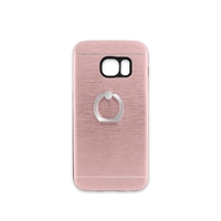 Samsung Galaxy S7 Aluminum Ring Stand CASE HYB24 Rose Gold
