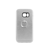 Samsung Galaxy S7 Aluminum Ring Stand CASE HYB24 Silver