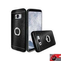 Samsung Galaxy S8 Plus Aluminum Ring Stand CASE HYB24 Black