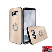 Samsung Galaxy S8 Plus Aluminum Ring Stand CASE HYB24 Gold