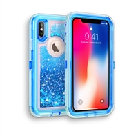 iPhone XS MAX Glitter OBox Hybrid Cover Case HYB26 Blue