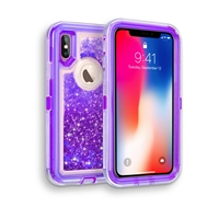 iPhone XS MAX Glitter OBox Hybrid Cover Case HYB26 Purple
