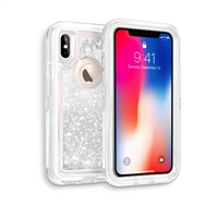 iPhone XS MAX Glitter OBox Hybrid Cover Case HYB26 Silver