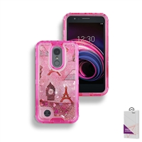 LG Aristo 3/ LG Aristo 2/ LG Tribute Empire Liquid Glitter Quicksand Case HYB26 Design 4