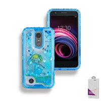 LG Aristo 3/ LG Aristo 2/ LG Tribute Empire Liquid Glitter Quicksand Case HYB26 Design 5
